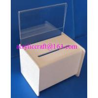 Best Acrylic PMMA Donation Box Collection Box Suggestion Box With Sign Holder wholesale