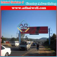 Gantry Spanning a Road Sign Board