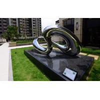 China Yard Decorative Outdoor Metal Sculpture Artificial Style Infinite Stainless Steel Art on sale