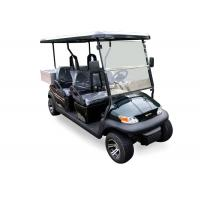 Best Dark Blue Electric Utility Golf Cart 4 Passenger With Aluminum Box For Luggage wholesale