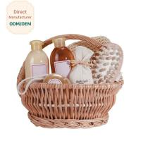 China Organic Bath Gift Baskets With Shower Gel Body Lotion Bath Salt Body Butter Soap on sale