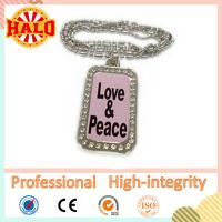 Buy cheap Customized LED dog tag necklace for kids with your own design product