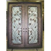 Best Safety double wrought iron doors wholesale