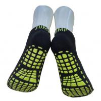 Best Knitted Trampoline Grip Socks / Polyester Sweat Absorbent Anti - Skid Yoga Socks For Adults wholesale