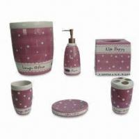 Best Ceramic Bathroom Set, 6 Items in One Set, Available in Various Colors wholesale