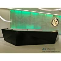Commerical Office buliding Geometric Round Reception counters made by China factory with Storage drawer and Stone table