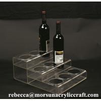 Best Customized Tabletop Fashionable Clear Acrylic Wine Bottle Display Holder wholesale
