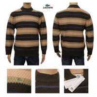 Best Brand design lacoste men's strip knitted sweater cashmere sweater wholesale