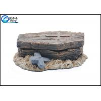 Best Polyresin Fish Tank Ornaments Pneumatic Coffin Shaped With Skeleton Inside wholesale