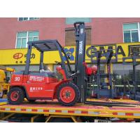 China Manual 3 Ton Diesel Forklift , Diesel Fork Truck With Long Service Life on sale