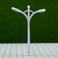 Best Custom 6V Two-headed Street Plastic Model Lamp Post for Railroad Layouts 6.5cm wholesale