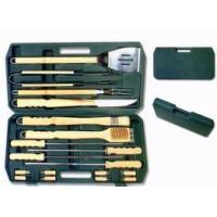 China 18 pcs BBQ Tool Set w/Wooden Handle on sale