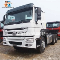 China Sinotruck Diesel Fuel 6x4 WD615 Tractor Head Trucks With Sleeper on sale