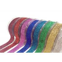 China Stretch Velvet Present Wrapping Accessories 1 Inch Glitter Elastic Metallic Costume Decorations on sale