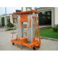 Best Order Picker Forklift  21 m height  red color  Aluminium ladder electric climbing Work Platform(double Mast) wholesale