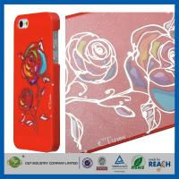 Best Gold Siliver Foil Bling Flowers Snap-On Apple Iphone 5S Smartphone Back Cover wholesale