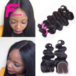 Best 3 Bundles Brazilian Virgin Hair Weft Body Wave With Closure 7A Human Hair Bundles Weave wholesale