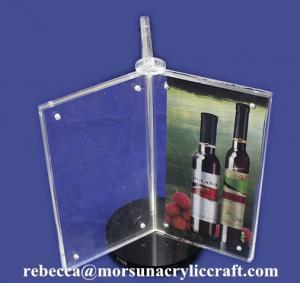 Best Custom Design 3 Side A4 Acrylic Menu Display Holder wholesale