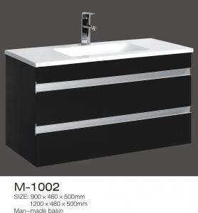 Best Custom Build Bathroom Vanity Units , DIY Black Vanity Double Invisible Drawer wholesale