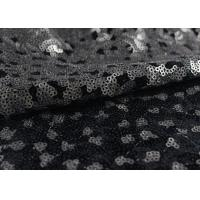 Best Golden Black Sequin Lace Fabric With 3D Embroidery Fabric For Party Gown Dresses wholesale