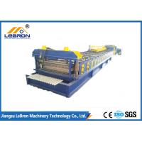 Best GI and GP material New blue color corrugated roof sheet roll forming machine made in China Automatic PLC Control system wholesale
