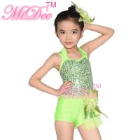 Confetti Halter Neck Sequin Dress , Shuttle Pleated Skirt Dress Dance Clothes For Kids