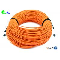 Best Elite MTP Trunk Cable 12F OM2 MTP Female - MTP Female OM2 50 / 125μm 3.0mm OD cable  Type B Orange LSZH wholesale