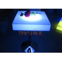 China Square Chargeable Illuminated LED Bar Tables With Multi Colors For 2 To 4 People Seat wholesale