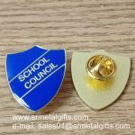Best Shield shape epoxy enamel lapel pin, color filled lapel pins, wholesale