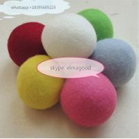 Best china factory Colored Pure Genuine 100% Wool Felt Dryer Ball Nepal Felt Balls wholesale