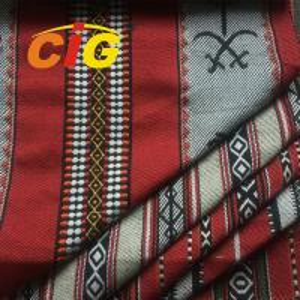 China Flame Retardant Anti - Static 100% Polyester Jacquard Sofa Fabric 145CM Width on sale