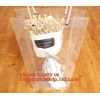 China PP plastic flower carry bags with hanging for potted plant bags,quality assurance great quality pp flower bag bagease pa on sale