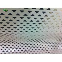 Best Aluminum Decoration Perforated Metal Screen With Triangle Hole punching wholesale