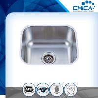 Best Four tap hole stainless steel sink with single bowl and stain polish for america market with SUS304 wholesale