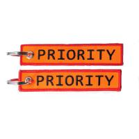Airline PRIORITY Embroidery Keychain Keyring Get Your Luggage Delivered Faster! Baggage