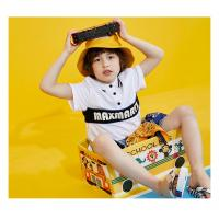 China New Latest Design High Quality Boy's Cotton polo T Shirt with Printed Age 4-10 on sale