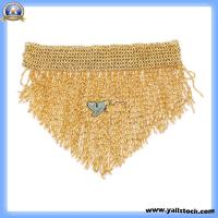 China Bead Belly Dance Hip Scarf Gold-F00710 on sale