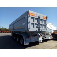China U Shape Tractor Trailer Truck / 4 Axle Dump Truck Tipper With 35m3 Cargo Box Capacity on sale