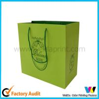 Best Green Personalized Gift Bags With Handle Customized Color Logo Slogan Design wholesale