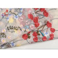 Best French Bride Colorful Embroidered Fabric Tulle Mesh Lace High Color Fastness wholesale