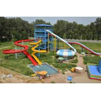 Best Fiberglass Adult Water Slide Games , 240 Riders Boomerango Water Slide wholesale