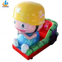 Best Coin Operated Childrens Rides , Kiddy Ride Machine Cartoon Engineer Shape wholesale
