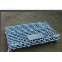 Best Galvanizing Storage Cages On Wheels With 100mm Height Wheel Easily Folded wholesale