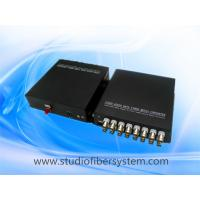 Mini 16CH CVI fiber converter with wall mounted aluminum case,compact desigend for CCTV system
