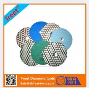 China Resin Velcro Backing Dry Flexible Diamond Polishing Pads on sale