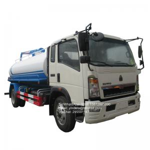 China Sinotruk howo right hand drive 10,000litres cesspit emptier fecal suction liquid waste disposal septic pump truck on sale
