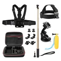 Best Action Camera Kit 12-in-1 Gopro Carrying case + Head Chest Belt Strap Mount HGP5704 wholesale