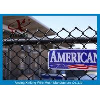 China Galvanized Steel Chain Link Fence Diamond Wire Mesh Fence Privacy Fence on sale