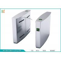Buy cheap Enter Exit Automated Flap Turnstile / Security High Speed Flap Barrier Turnstile product