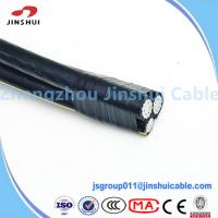 Best 0.6 / 1KV Aluminum Conductor Service Drop Cable Duplex Wire Icea S 61 402 wholesale